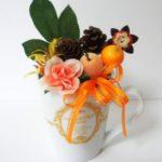 秋のフルーツマグカップアレンジ