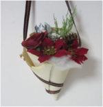 ポインセチアの花束オーナメント